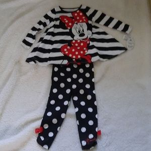 Brand New Disney Parks Minnie Mouse 2 Piece Outfit